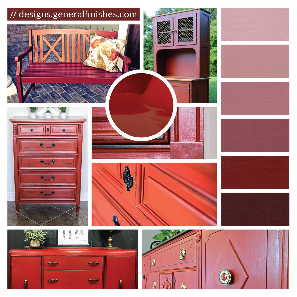 brick red milk paint color inspiration general finishes