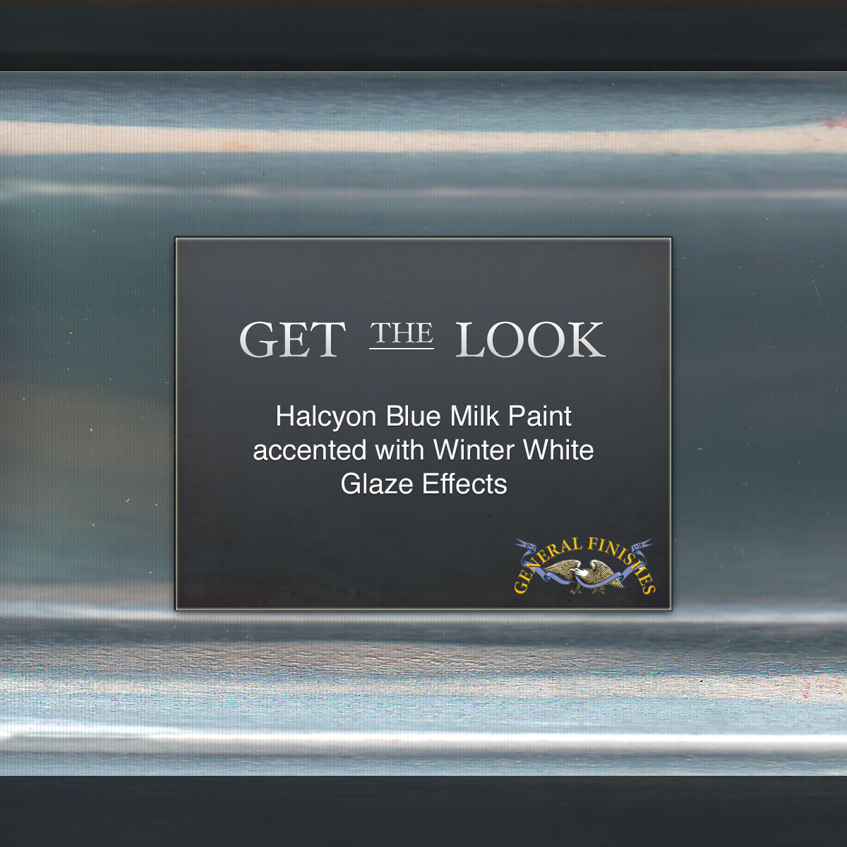Get The Look Halcyon Blue Milk Paint Accented With Winter