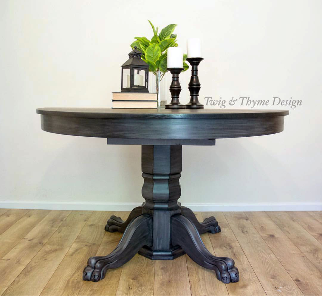 Black Stained Kitchen Table