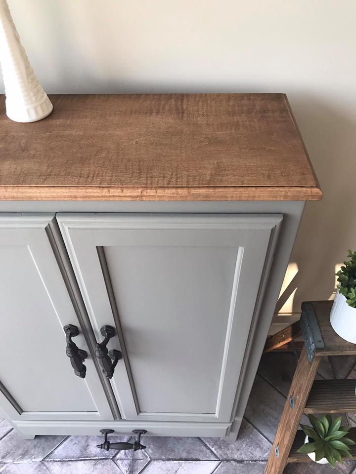 cabinet in custom color of driftwood millstone general