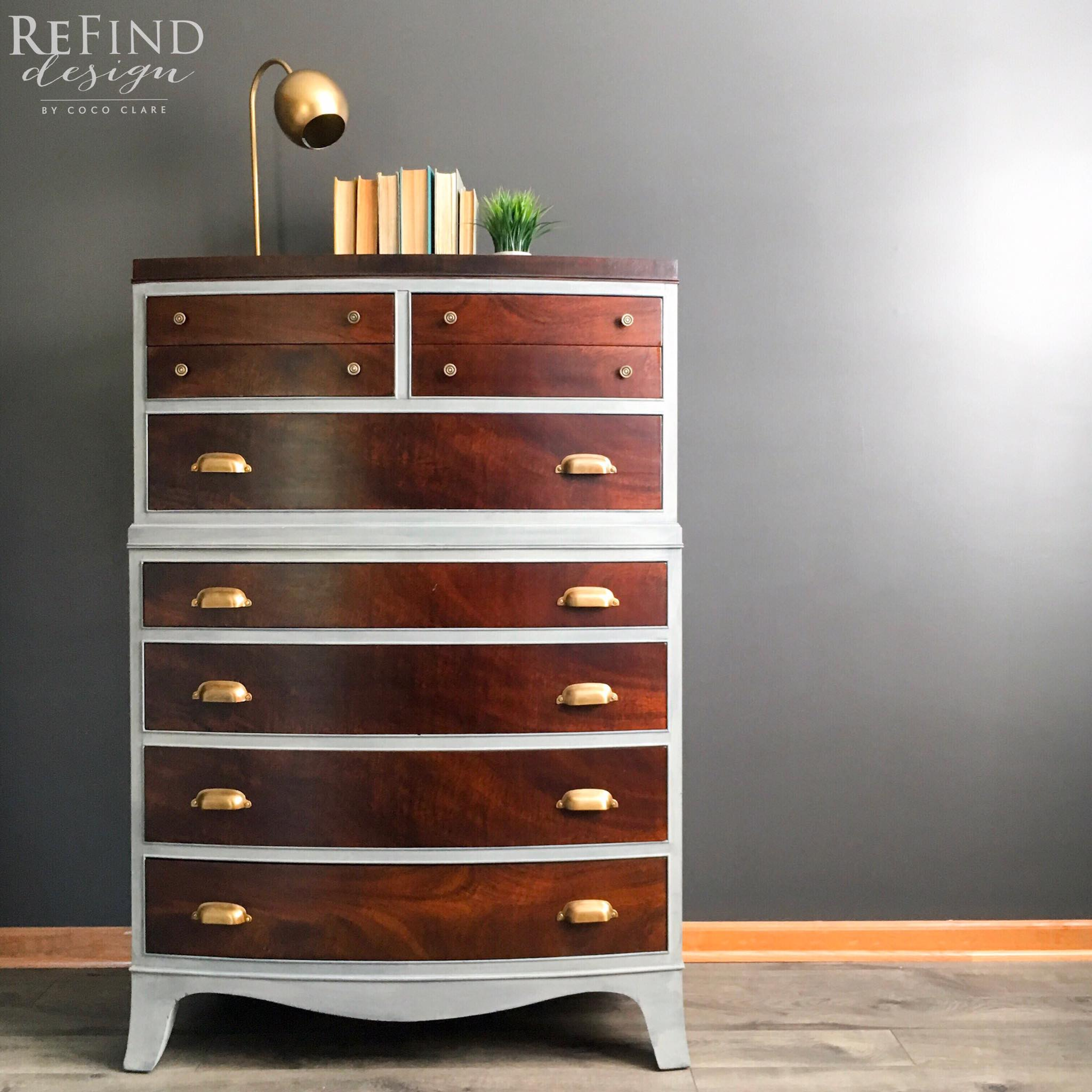 Medium Brown Dye Stained Dresser General Finishes Design