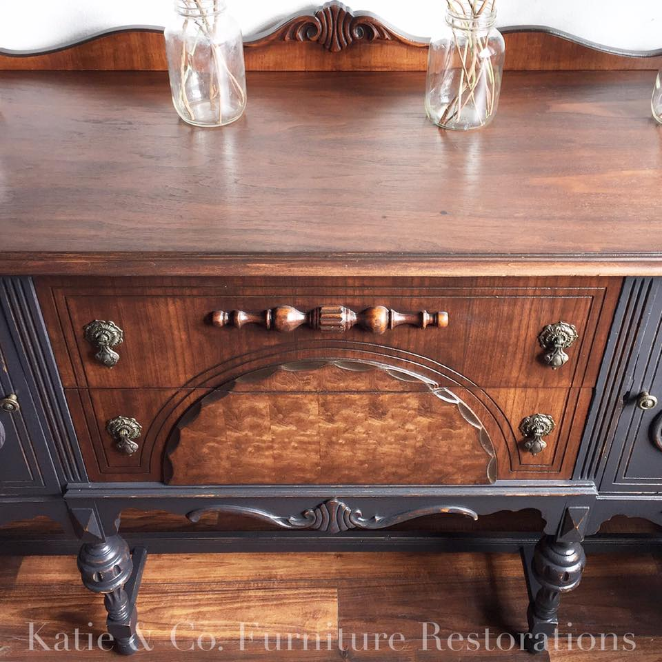 And Furniture: Glorified Buffet In Java And Custom Milk Paint Mix