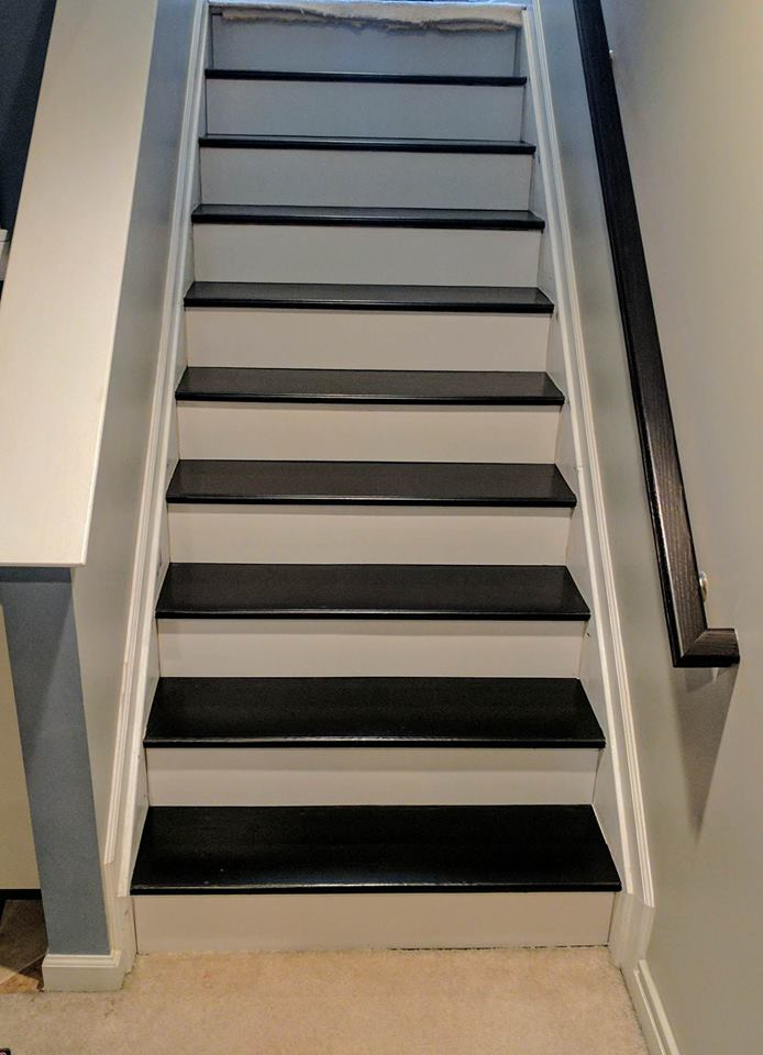 Staircase Revitalized With Java Gel Stain General