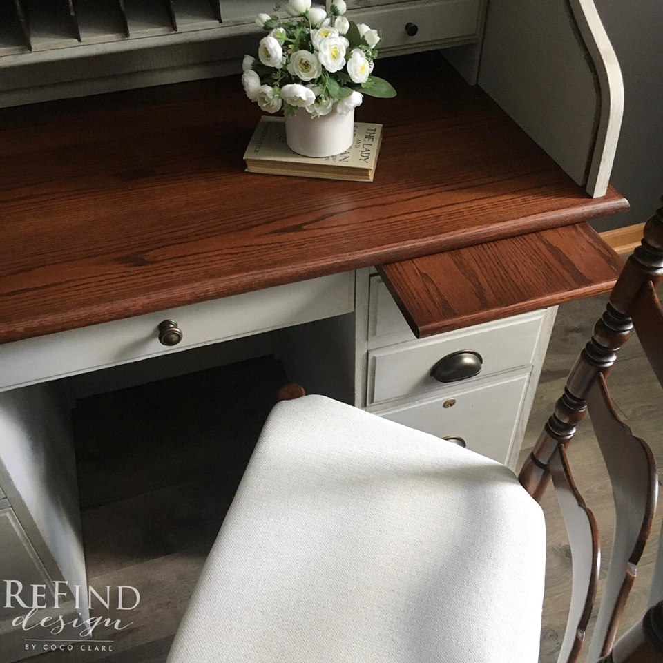 Roll Top Desk W Brown Mahogany Amp Java Gel Stains