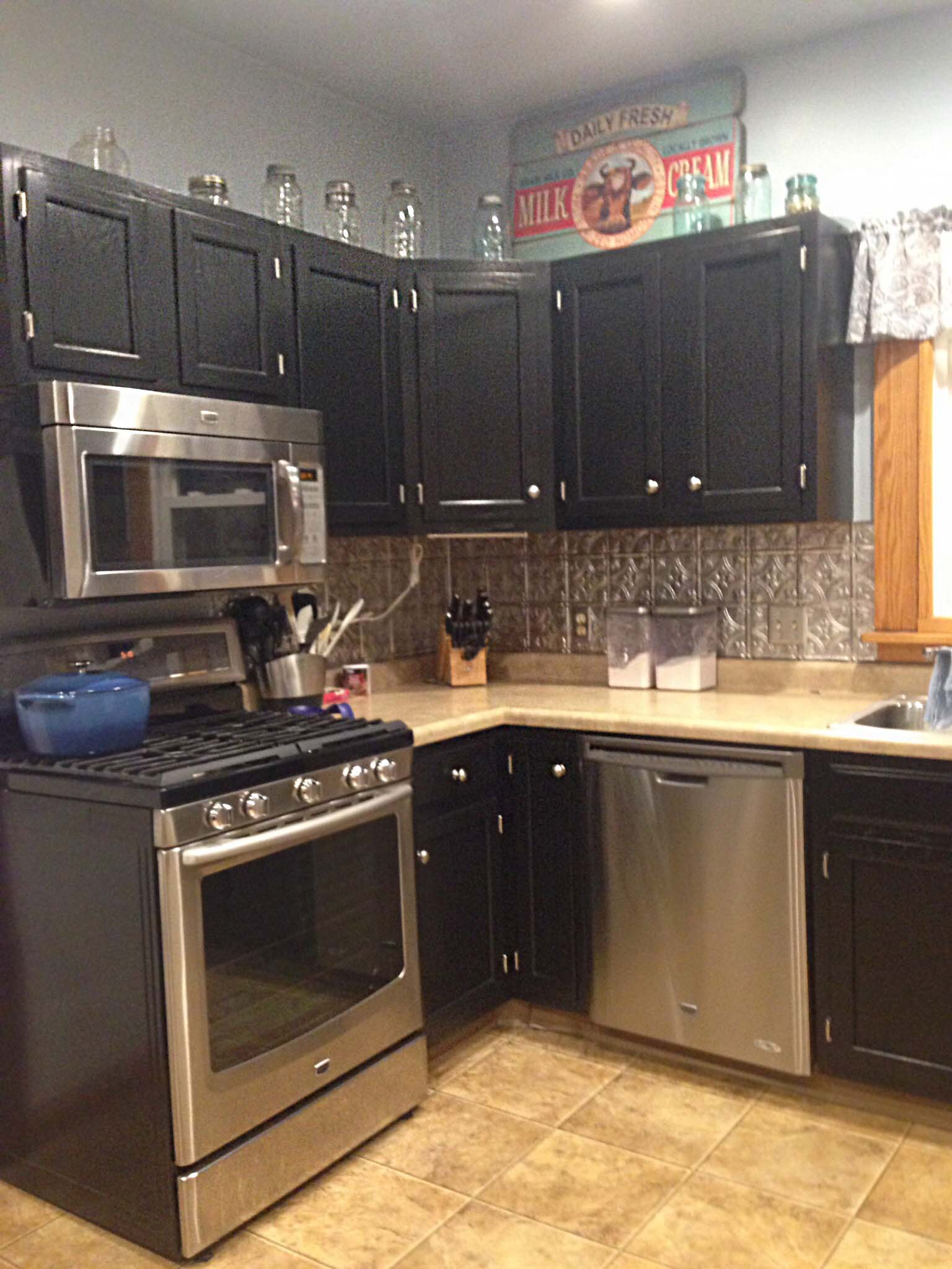 Kitchen Cabinets In Black Gel Stain General Finishes