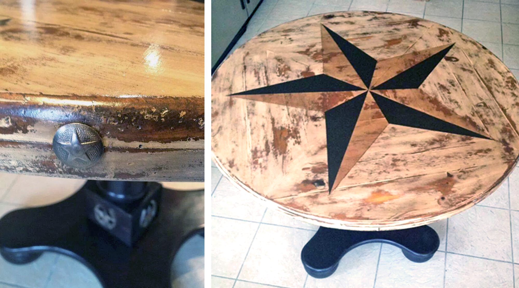 Rustic Star-studded American Oak & Java Restyle