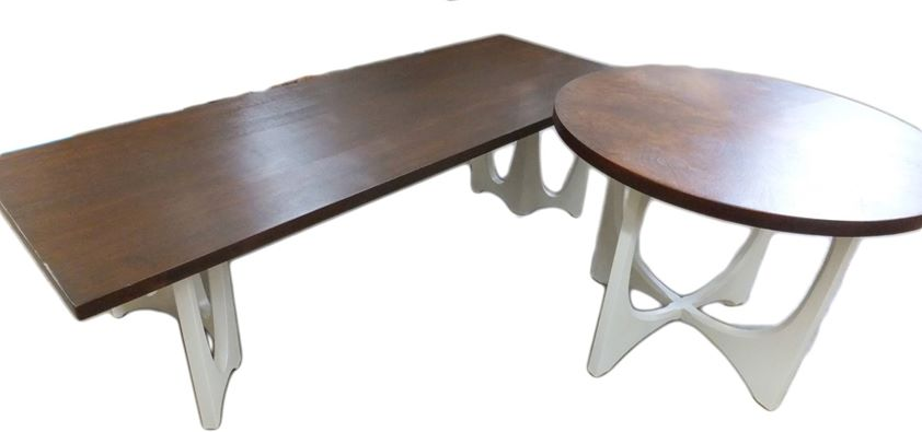 Tables in antique white and antique walnut general for Table 52 reservations