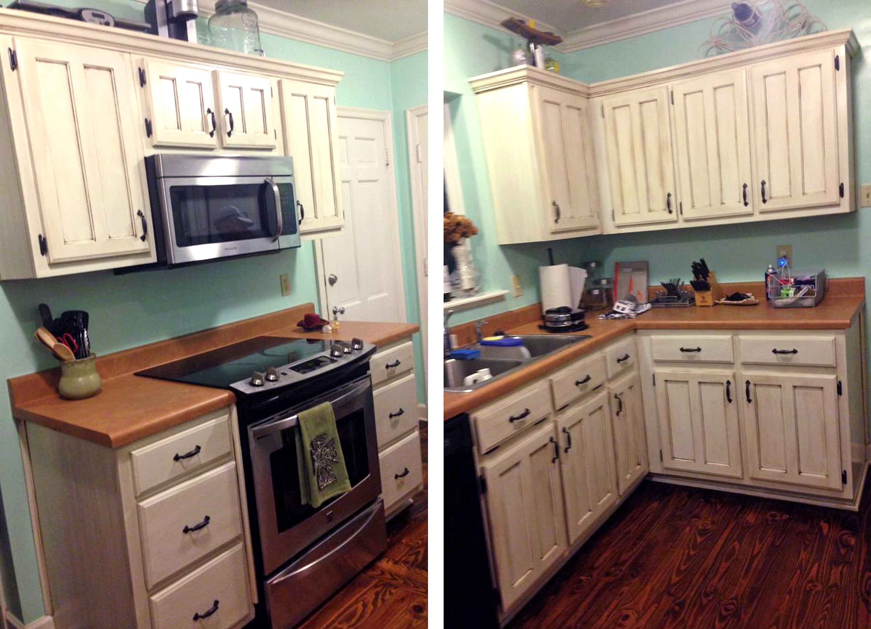 Full image for general finishes antique white milk paint for Kitchen cabinets painted antique white