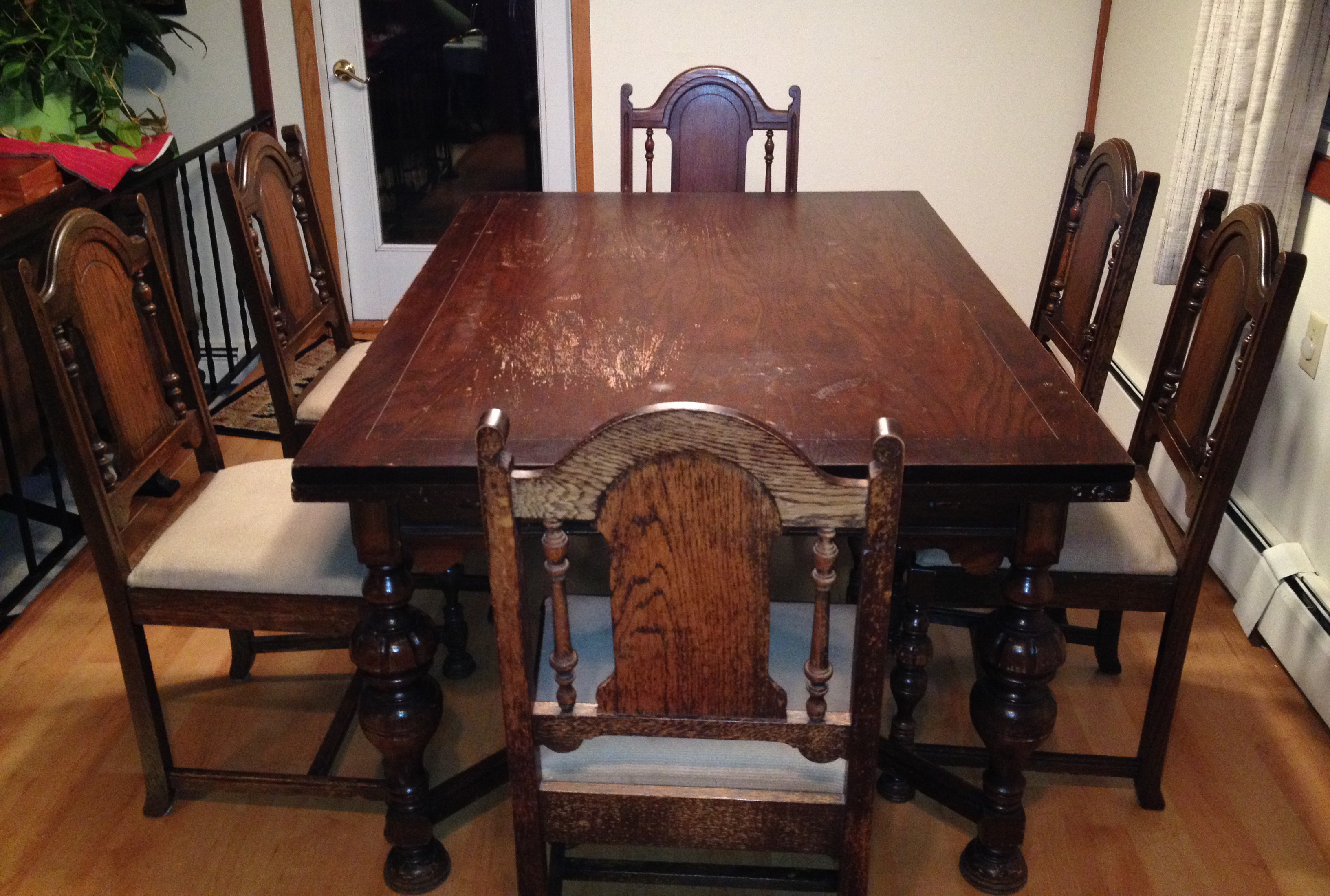 Staining dining room table