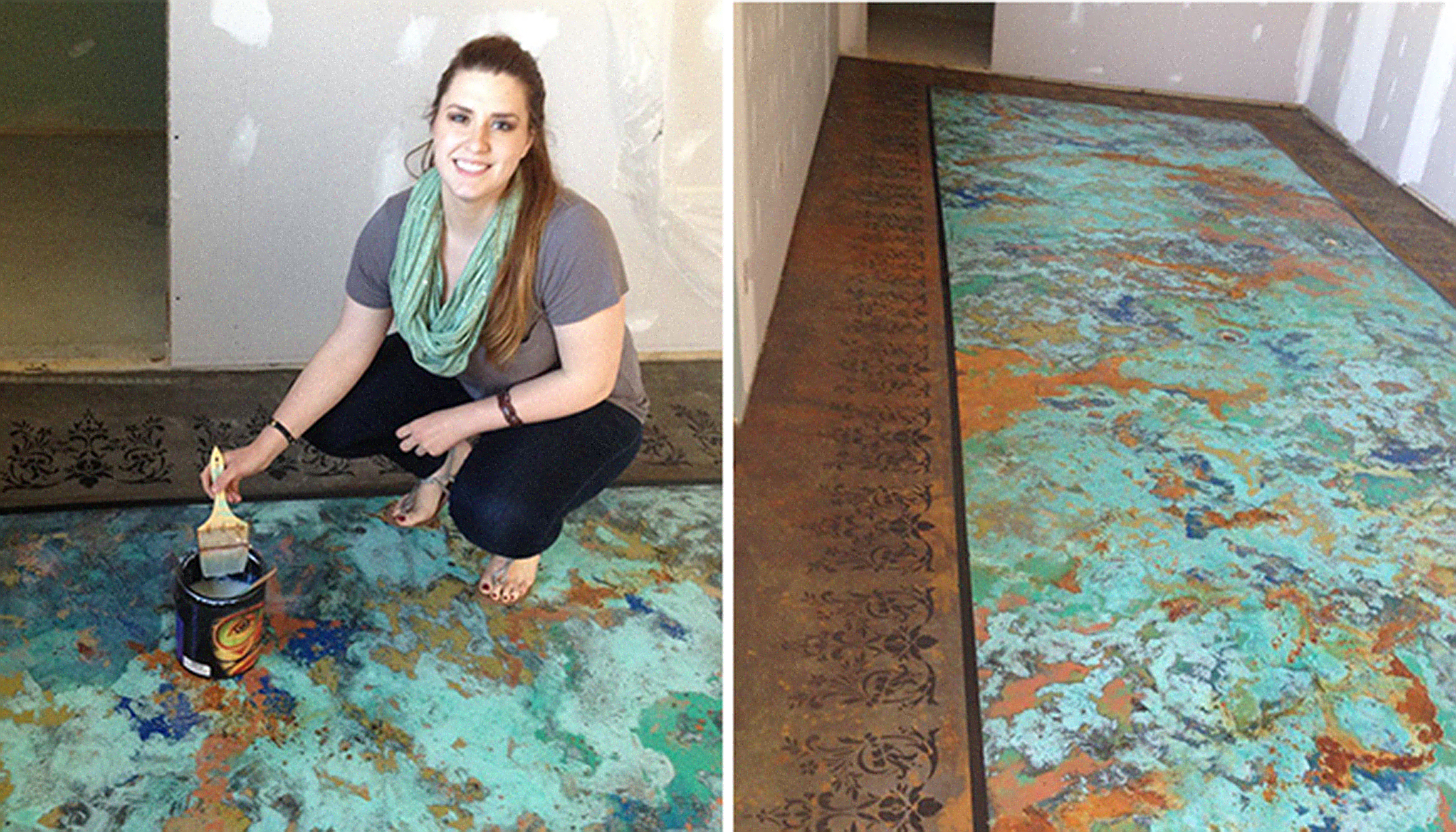 Custom Patina Floor Makeover | General Finishes Design Center