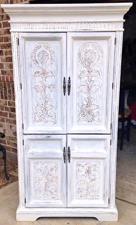 Cabinet in Snow White Milk Paint | General Finishes Design ...
