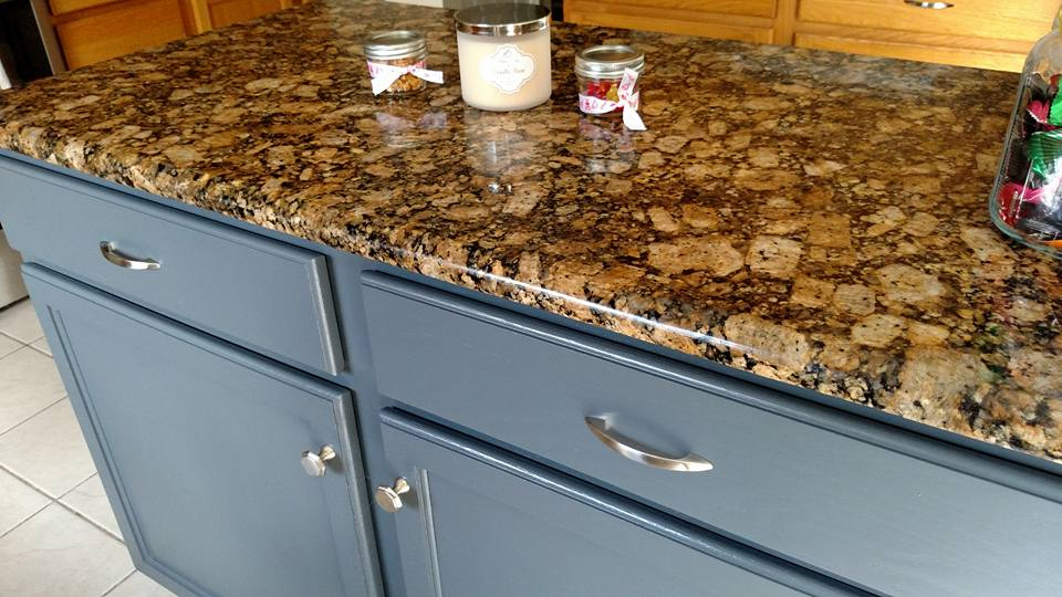 Kitchen Island In Gf S Gray Gel Stain General Finishes