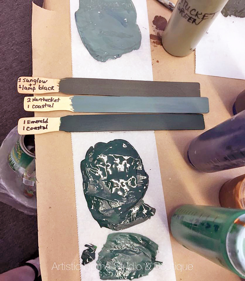 Custom greens general finishes design center - How to mix emerald green paint ...