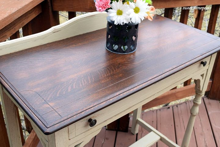 Side Table In Java Gel Stain And Millstone Milk Paint