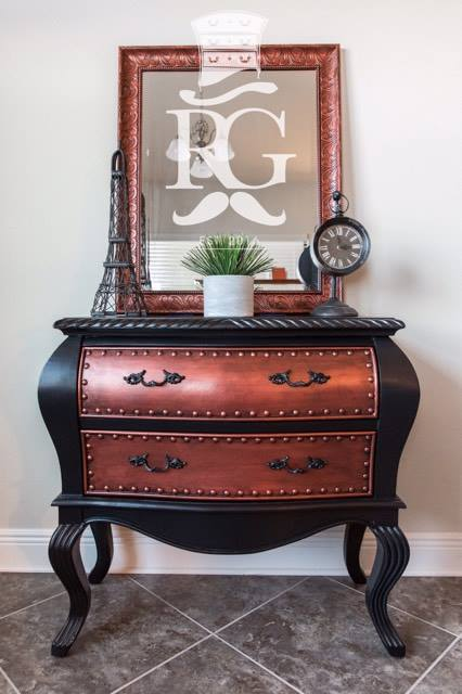 Copper Pearl Effects Side Table General Finishes Design