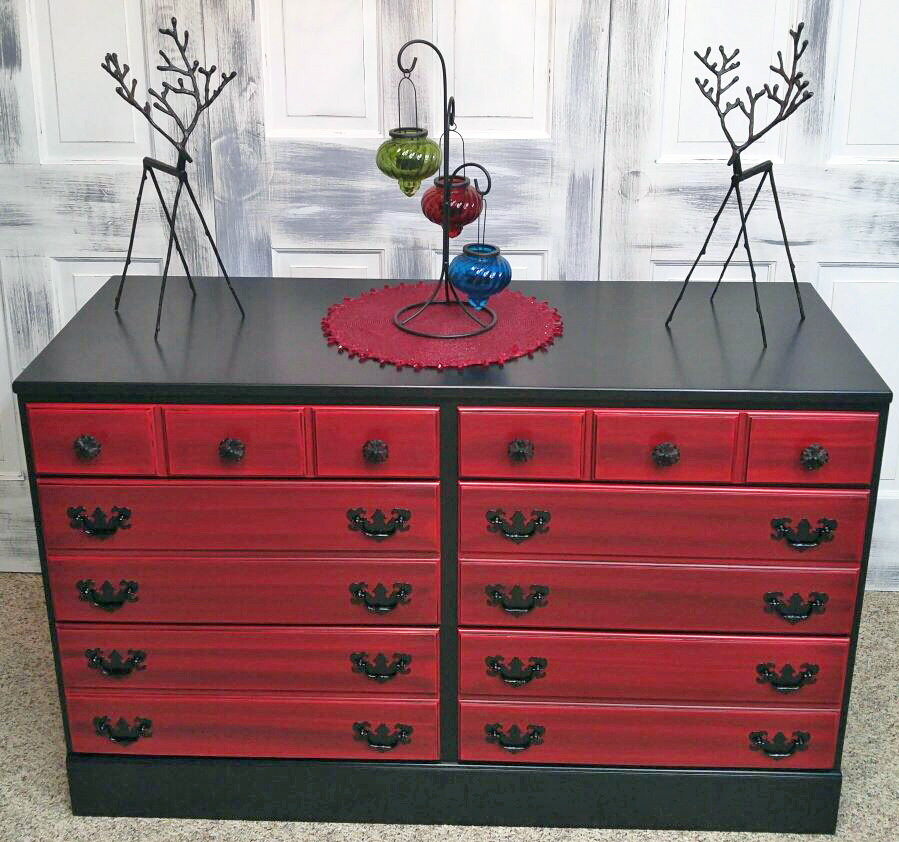 Paint An Old Dresser Black