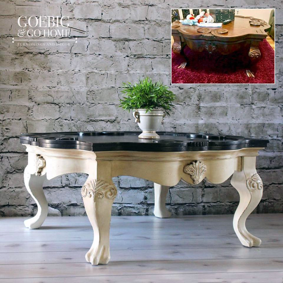 Van Dyke Glazed Antique White Coffee Table General Finishes