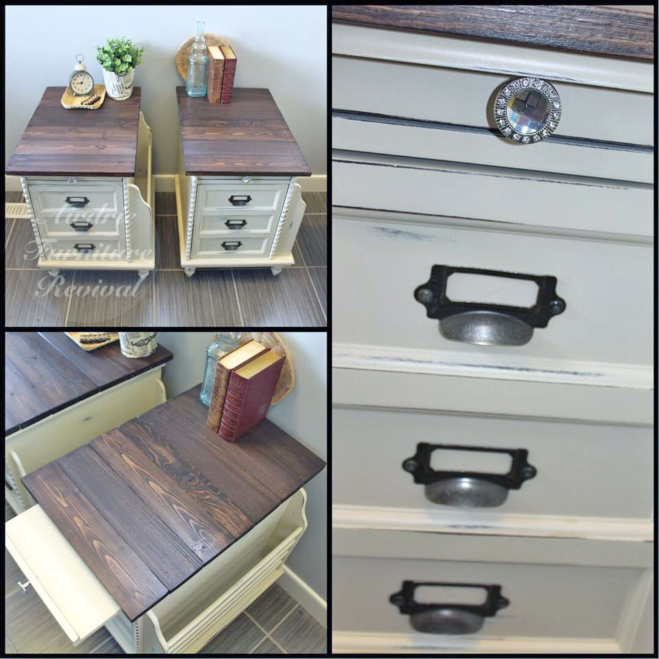 linen and espresso side tables general finishes design