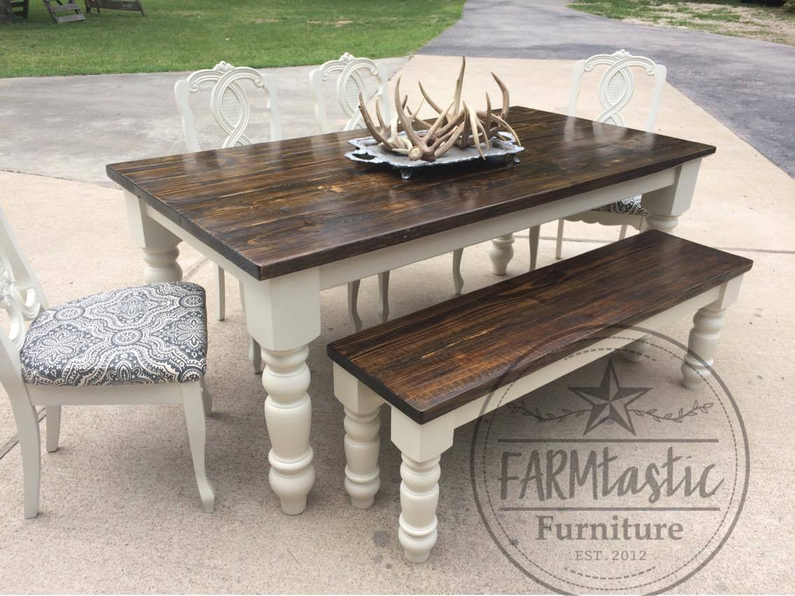 Farmtastic Table In Antique White Milk Paint amp Arm R Seal