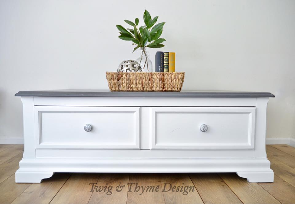 Coffee Table in Snow White Milk Paint | General Finishes ...