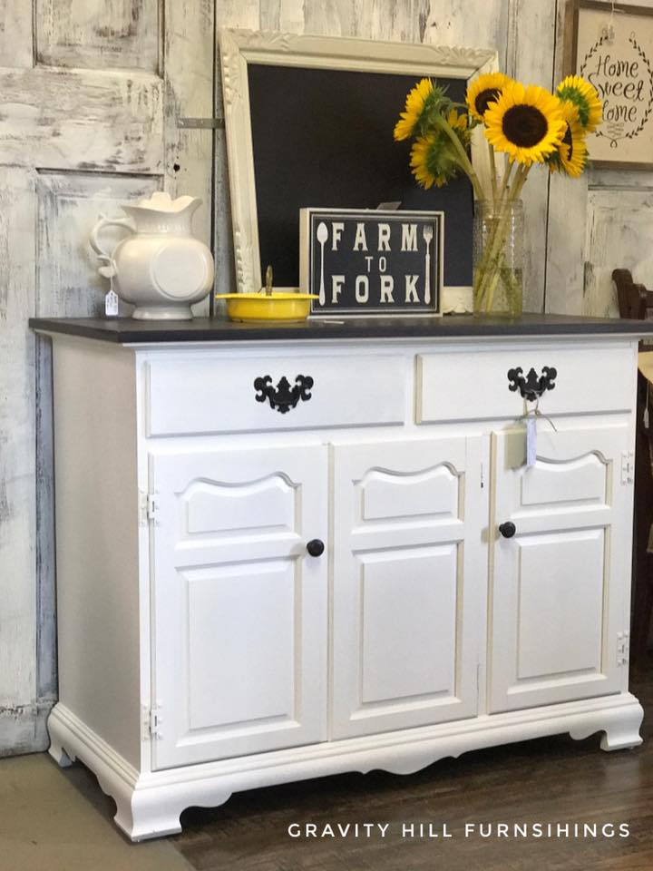 Cabinet In Snow White Milk Paint Amp Water Based Wood Stains