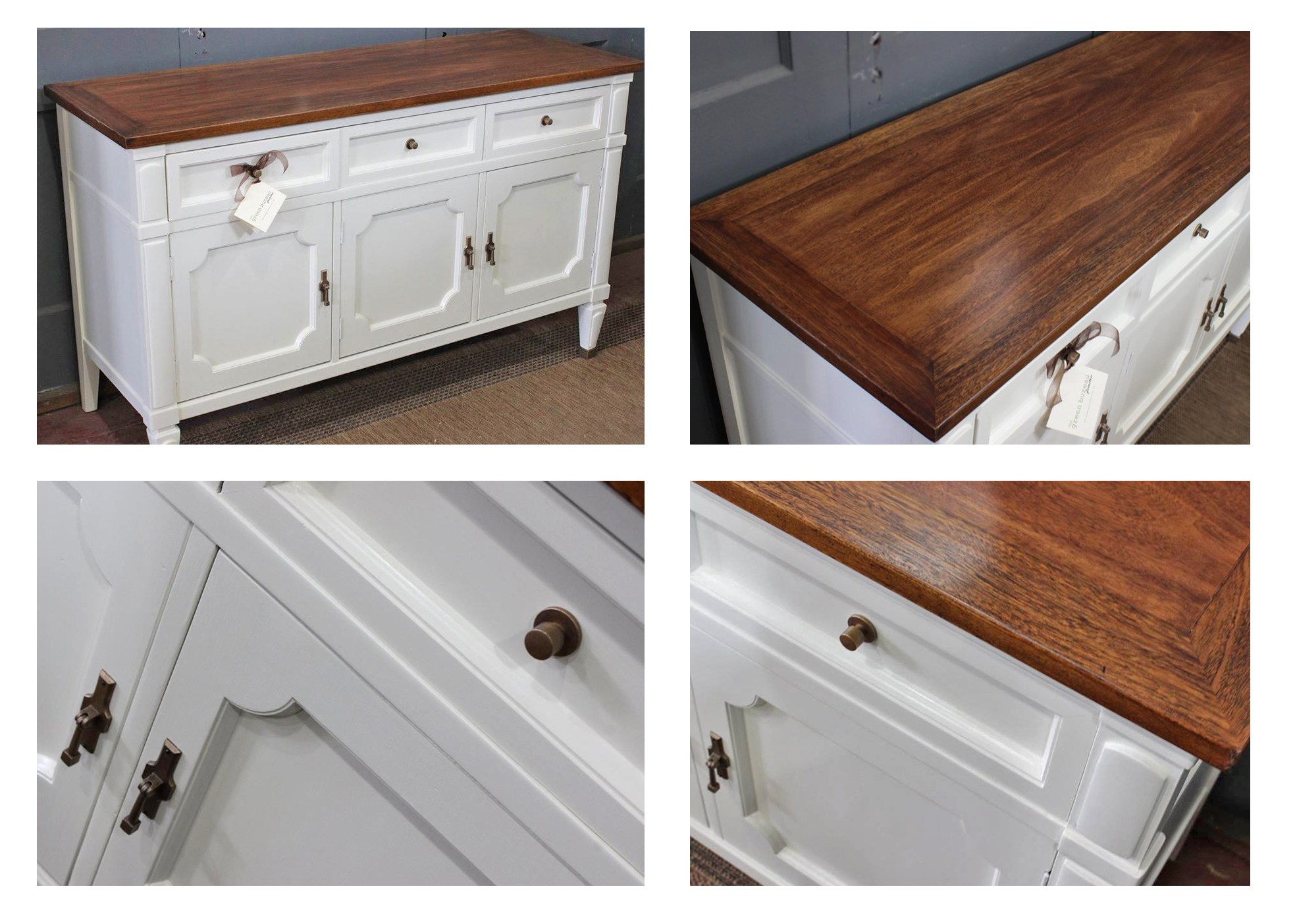 Buffet In Antique White Milk Paint And Brown Mahogany Gel Stain General Finishes Design Center
