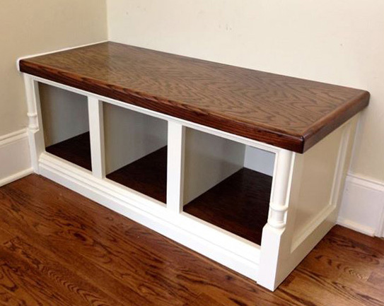 Cubbie In Antique White And Spiced Walnut General