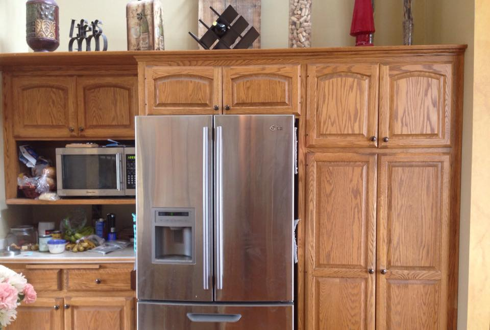 Java cabinet makeover general finishes design center for Best wood stain for kitchen cabinets
