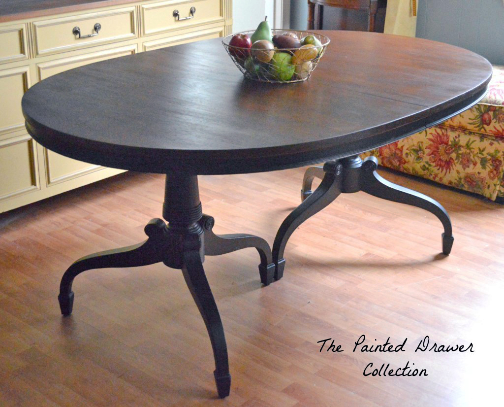 Water Dining Tables ~ Dye stain and gel classic dining room table