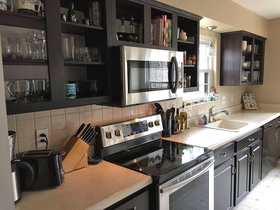 Kitchen in Java Gel Stain and High Performance Flat ...