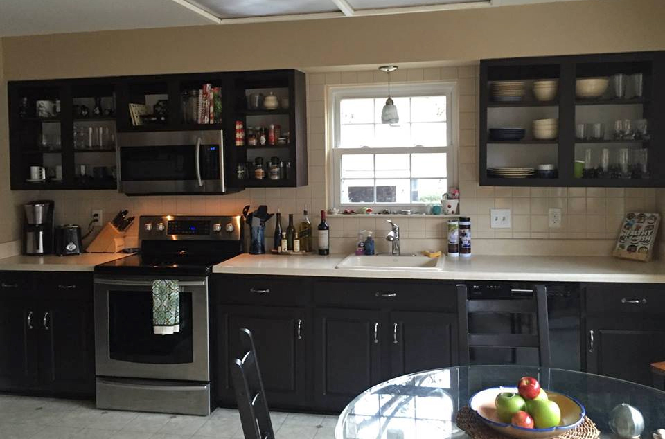 Kitchen In Java Gel Stain And High Performance Flat