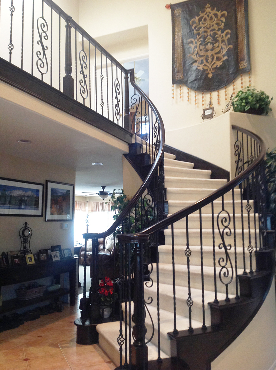 Staircase In Espresso Water Based Wood Stain And Enduro