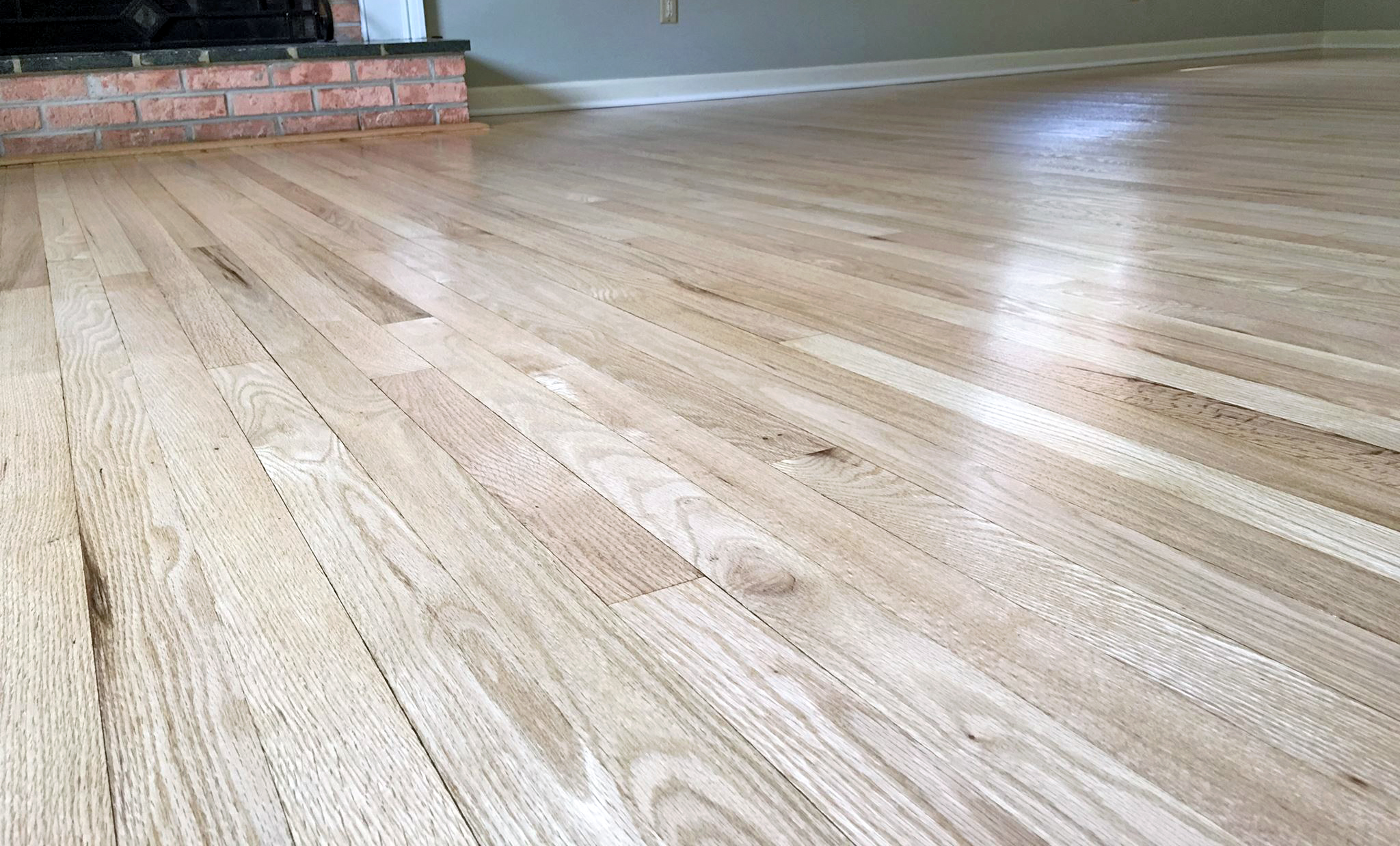 Red Oak Floors Refinished With Pro Image Satin General