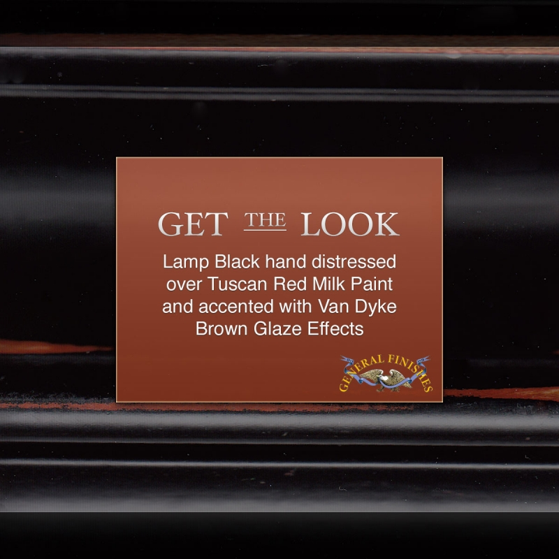 Get The Look Lamp Black Hand Distressed Over Tuscan Red