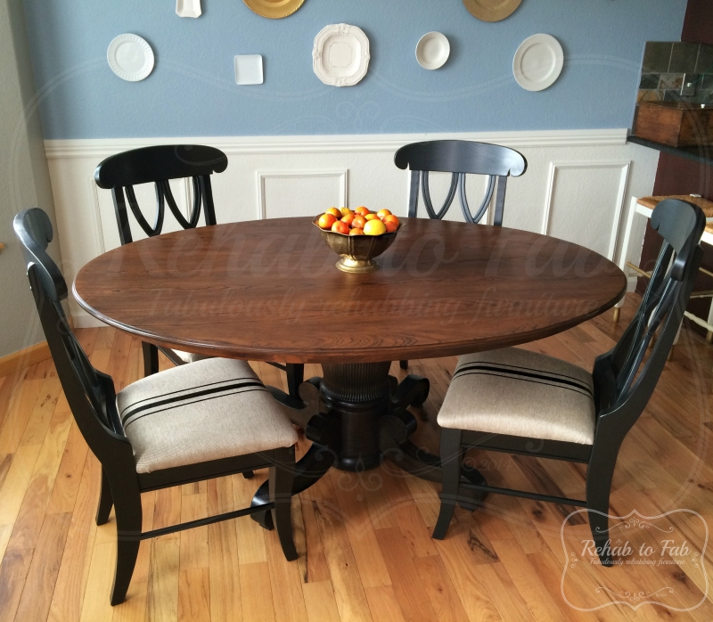Table And Chairs In Java Antique Walnut Gel Stain