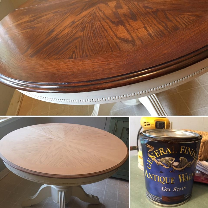 General Finishes Gel Stain Pint Or Furniture Oil Topcoat: Table Revival In Antique Walnut