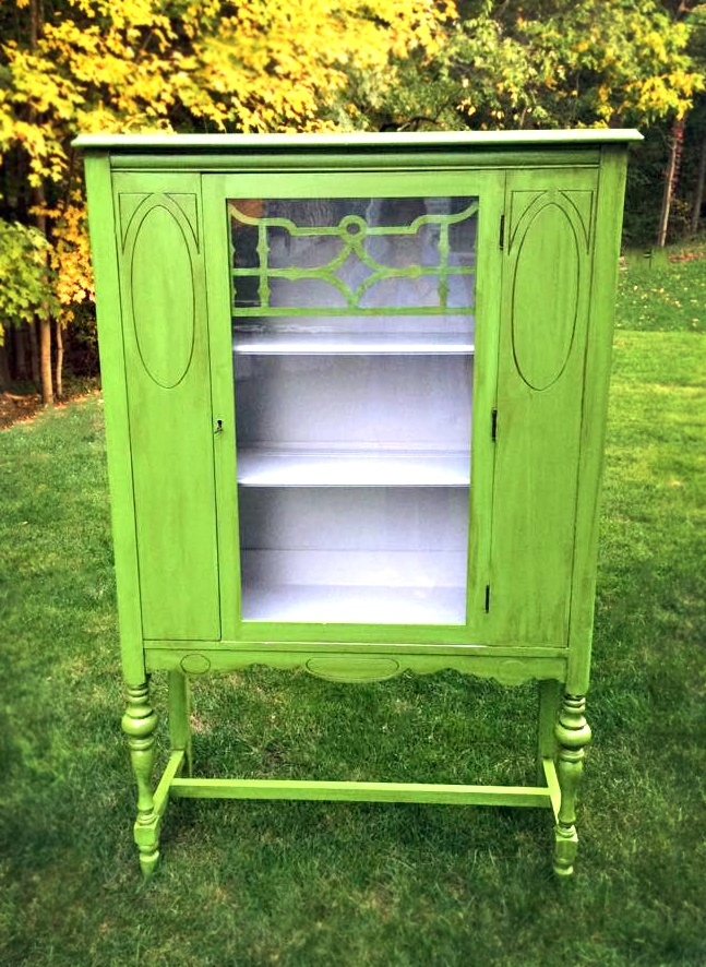 Lovely Lime Green China Cabinet | General Finishes Design Center