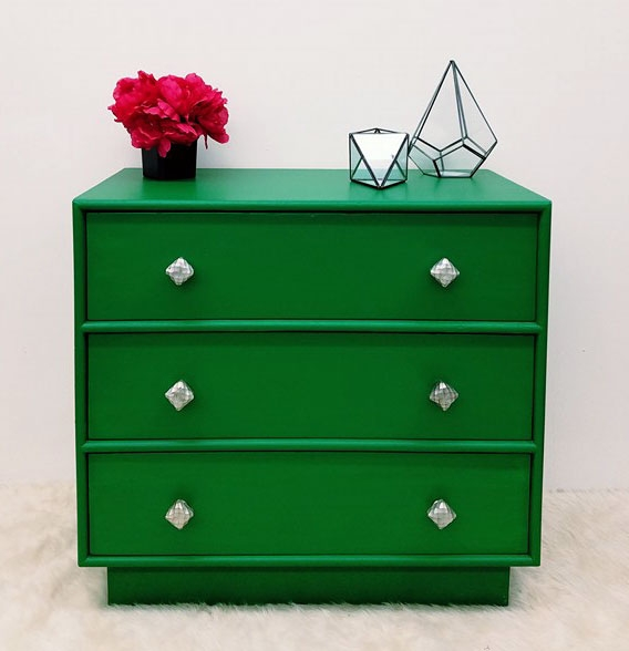 Emerald dresser general finishes design center - How to mix emerald green paint ...