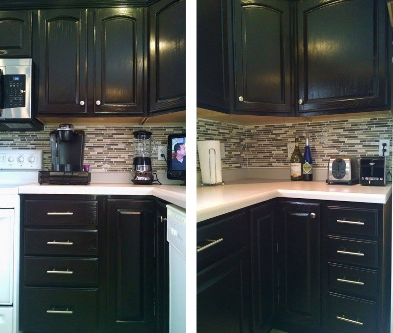 What Is The Best Finish For Kitchen Cabinets: Kitchen Makeover In Java Gel Stain