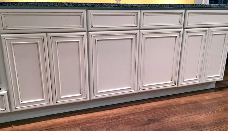 Custom color kitchen cabinet makeover general finishes for White kitchen cabinets turning yellow