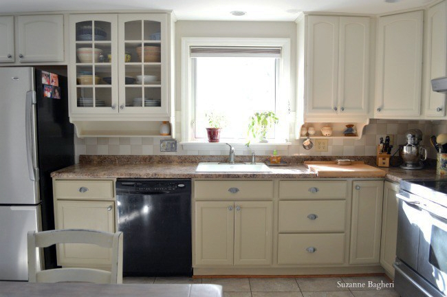 Millstone And Antique White Kitchen Cabinet Makeover General Finishes Desig