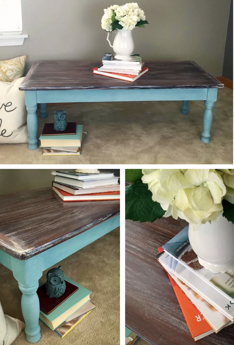 Rustic Whitewash Coffee Table General Finishes Design Center