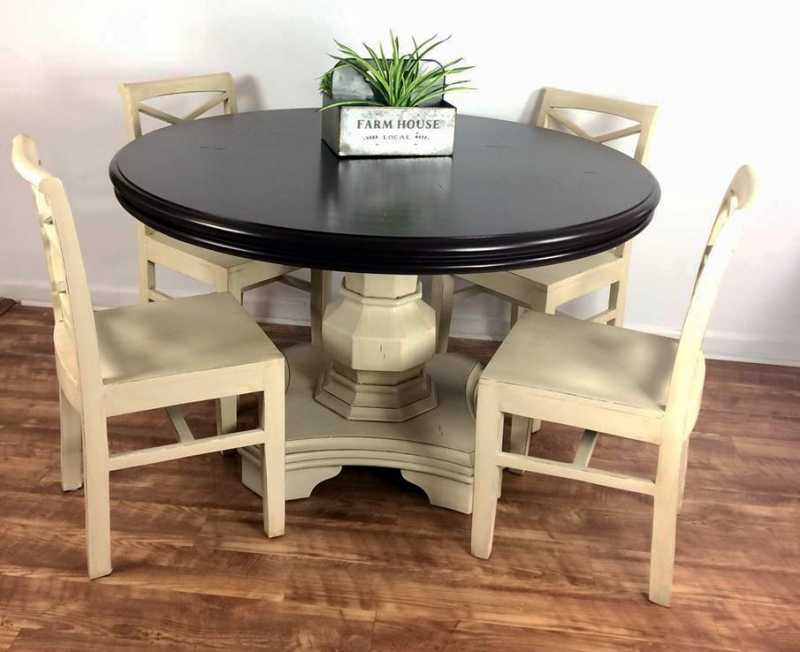 Antique White And Dark Chocolate Dining Set General