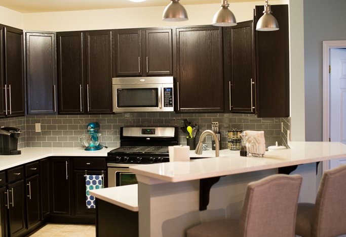 Kitchen Cabinets Java Color color stained cabinets: should floors match with kit cabs