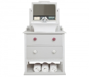 Country cottage vanity unit