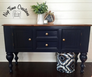 Coastal blue general finishes design center - Commode 6 tiroirs noir ...