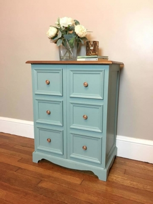 Lovely Dresser In Persian Blue Milk Paint