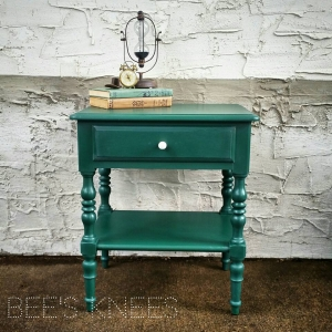 Custom Mixed Green Side Table
