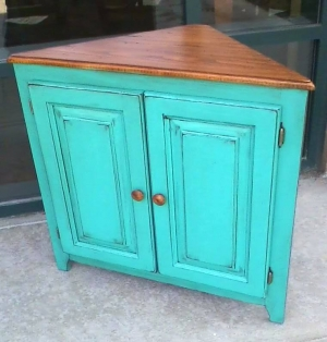 End Piece In Bright Patina Green