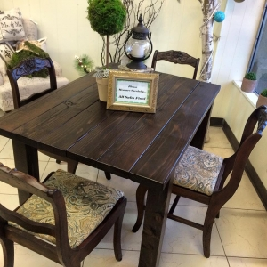 Espresso Water Based Wood Stained Table